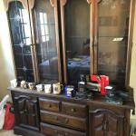 CHINA CABINET AND CREDENZA