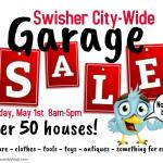 Swisher City-Wide Garage Sale      Saturday, May 1st     8am-5pm