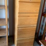 Solid oak wooden filing cabinet