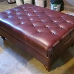 Craftmaster Leather Cocktail Ottoman  -  Like-new condition