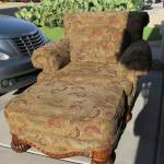 Couch, Oversized chair with ottoman