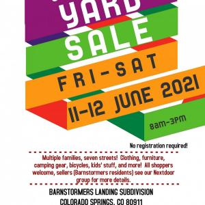 Photo of Barnstormers Landing Community Yard Sale: Fri-Sat, June 11-12, 8am-3pm