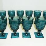 10 Indiana Glass MOUNT VERNON goblets