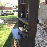 Custom beverage station with fridge