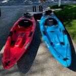 Sun Dolphin Bali 10ft Kayaks and car racks