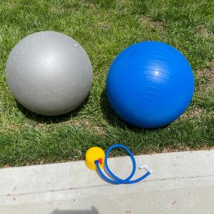 Photo of Ab chair and exercise balls