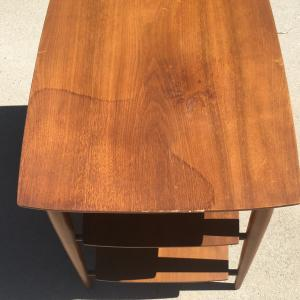 Photo of Heritage henredon MCM three tier  danish walnut table