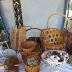 Collection of bamboo handy baskets