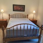 Queen Size Solid Oak Bed, Mattress and Box Spring