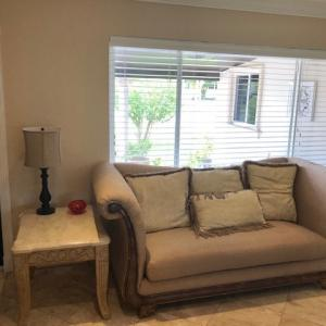 Photo of SOFA , SIDE TABLE AND CONSOLE TABLE  &  POTTERY BARN CRIB W/MATTRESS
