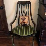 Hand Painted 19th Century Reproduction Occasional Chair