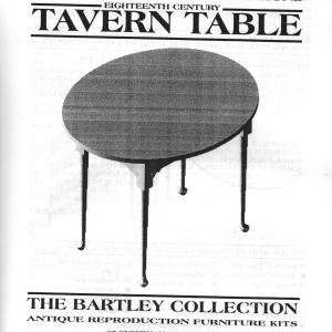 Photo of Bartley Collection fine furniture kits - oval table and treasure box