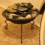 Black Stand Table Top Bowl Stand Electric Water Plug In Fountain Rocks