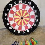 Vintage Large Heavy Pro Sport Dartboard & Baseball Game- Man Cave