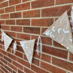 8ft Burlap & Lace pendant banners