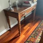FarmTable Style Desk with Silver Crome Handles