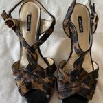 Leopard Heels, Snake print Heels size 10