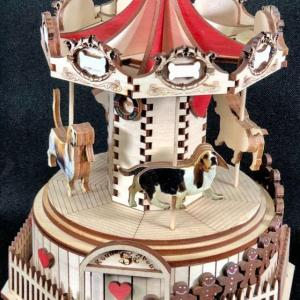 Photo of Ginger Cottages Wood Basset Hound Merry Go Round Carousel