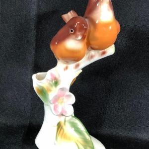 Photo of Vintage Mr & Mrs English Robin by Clay Sketches Figurine Vase