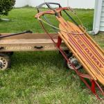 Lot S8- Antique Wood Hamilton Greyhound Wagon & Speedaway Sled