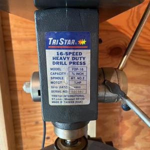 Photo of Lot S2- Tristar 16 speed heavy duty drill press with extras