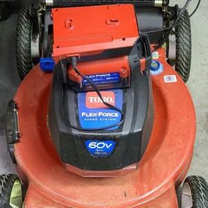 Photo of Lot 26: Toro 60V Battery Self-Propelled Lawn Mower