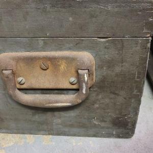 Photo of Lot 63: Large Wood Toolbox & Tools