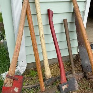 Photo of Lot S3- Axes, Sledges and saw lot