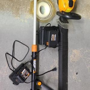 Photo of Lot 24: Worx Trimmer and Blower