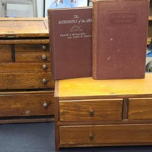 Photo of Lot 28: Vintage Small Machinist's Chest with Tools/Books (Starrett & More)