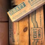 lot of 5 Vintage Kraft Velveeta Block Cheese Keeper Saver Box