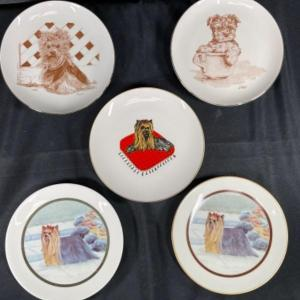 Photo of Set of 5 Yorkie Dog Collector Plates