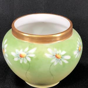Photo of Vintage Daisy Flower Limoges Frances Trinket Planter Vase Bowl