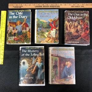 Photo of Set of 5 Vintage Nancy Drew Mystery Story Books