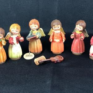Photo of Miniature Musical Instrument Angel Figurines Anri Toriart
