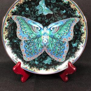 Photo of Emerald Elegance from the Enchanted Wings Collection Butterfly Plate