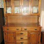WOODEN HUTCH WITH MIDDLE DISPLAY AREA