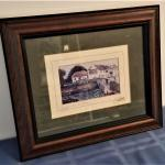 "Lot #38  Irish Print in frame - ""Going for a Pint in Galway"""