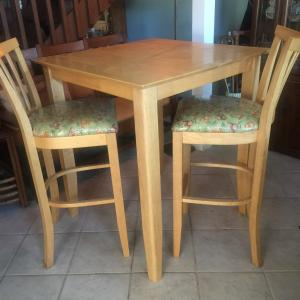 Photo of Solid Wood High Top Table & 2 Chairs