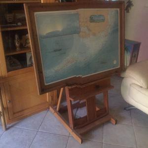 Photo of Large Florida Keys Map & Matching Easel