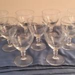 Lot #46  Lot of vintage crystal goblets - acid etched wheat pattern