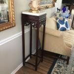 2 Tall Wood Stand Tables