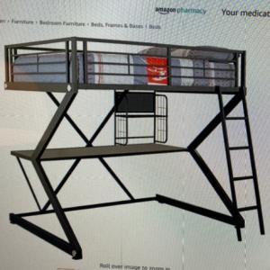 Photo of Loft bed frame. Full-sized. metal