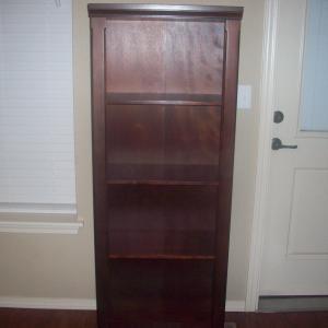Photo of Tobacco finished wood shelf