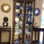 Wood, Glass, & Mirrored China Cabinet