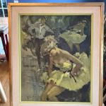 Ballerina framed art