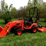 Compact 4WD Loader Tractor with mower
