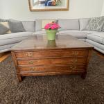 Antique map storage coffee table