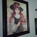 "Large Painting of Girl by ""Hibel"""