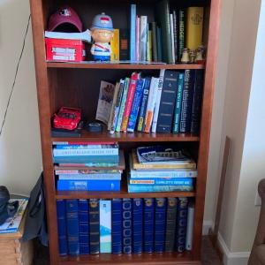 Photo of Beautiful wooden bookcase